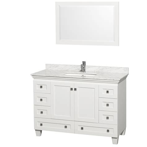 48 vanity with acclaim 48 quot white bathroom vanity set