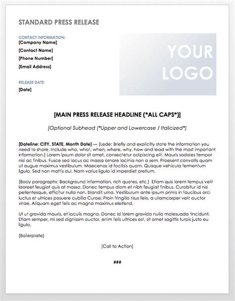Free Press Release Templates Smartsheet Free Sle Press Release Template