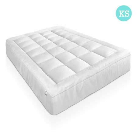 duck feather and pillowtop mattress topper king