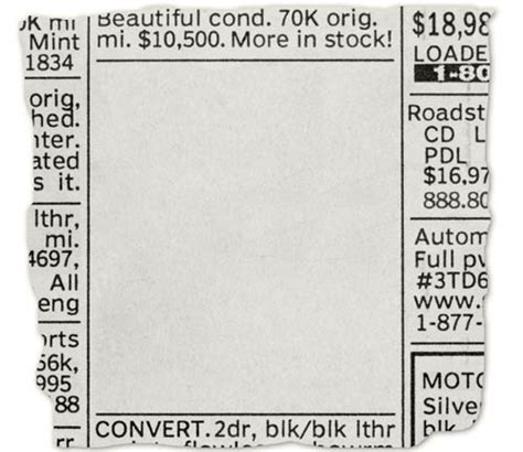 newpaper card ad templates mcmenamin newspaper clipping