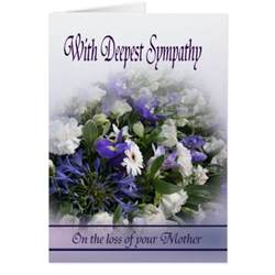 loss of with deepest sympathy cards zazzle