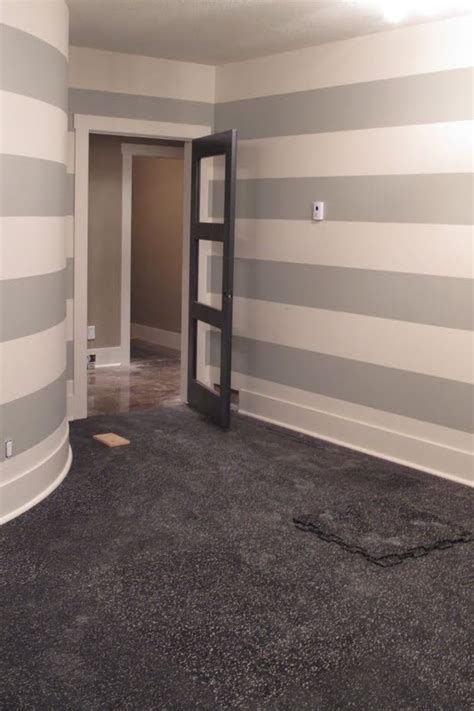 grey and white striped bathroom grey stripe on walls for current bath would look great