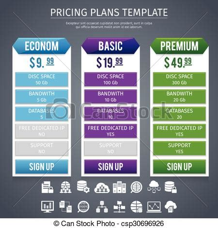 Software Pricing Plans Template Software Econom Basic And Premium Pricing Plans Template On Software Pricing Template