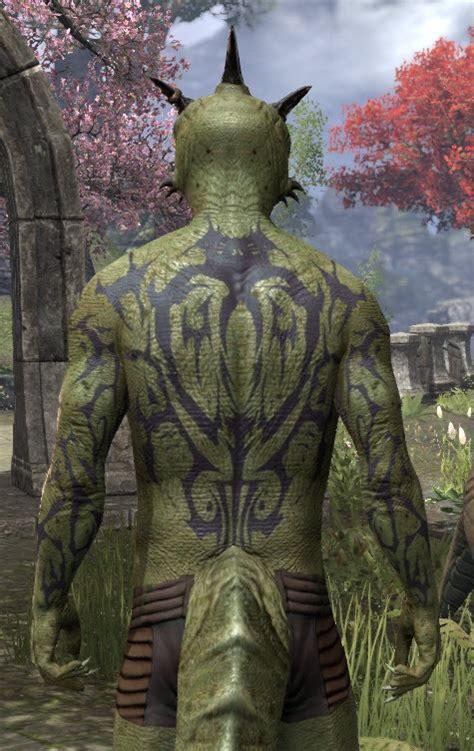 eso fashion morag tong body tattoo elder scrolls