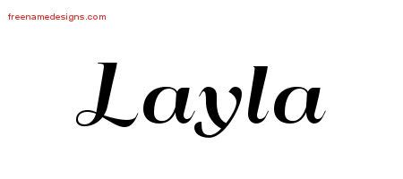 layla tattoo designs deco name designs layla printable free name