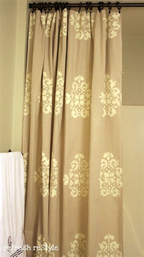 how to get paint off curtains 1000 ideas about stenciled curtains on pinterest drop
