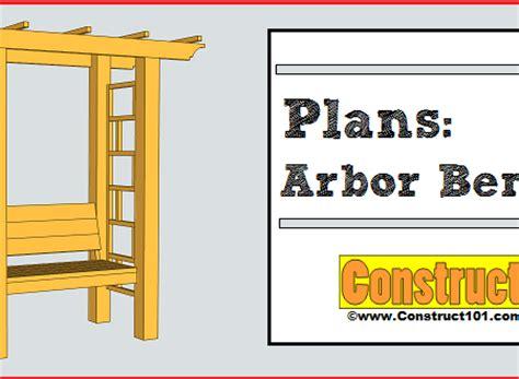 arbor bench plans free pdf
