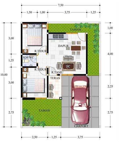 denah rumah minimalis type   desain rumah minimalis type    lantai sederhana