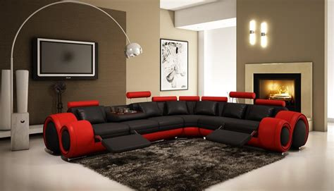 black sectional sofa with recliners 4087 and black bonded leather sectional sofa with