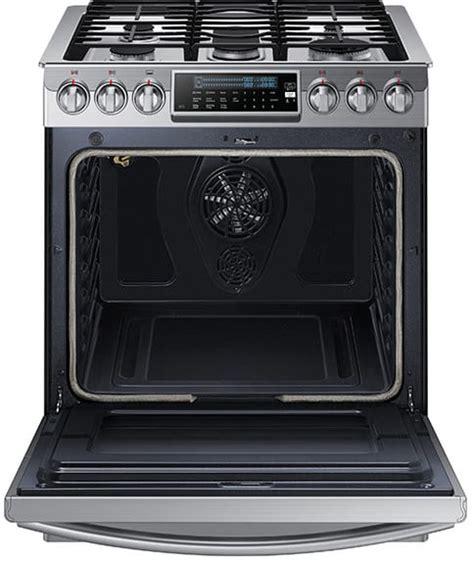 samsung gas range with warming drawer samsung nx58h9500ws 30 inch slide in gas range with true