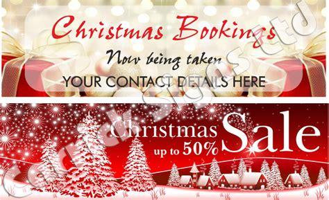 christmas booking banners christmas signs printing