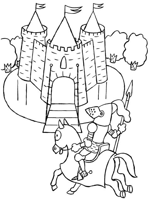 Knights Coloring Pages Coloringpages1001 Com Coloring Pages Knights