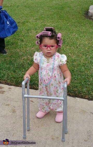 homemade granny baby costume