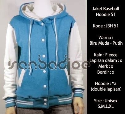 Jaket Baseball Kyubi Marun Putih jaket baseball hoodie biru muda putih 51 vanbadjoe