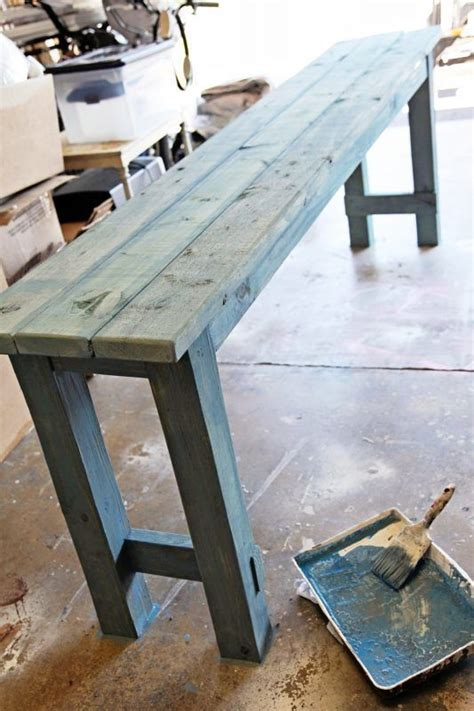diy couch table 25 best ideas about diy sofa table on pinterest diy