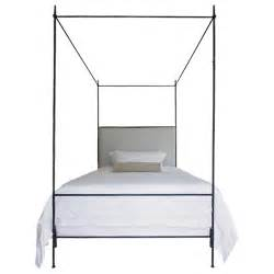 Z Gallerie X Canopy Bed For Sale Louis Xvi Style Iron Upholstered Canopy Bed For Sale At