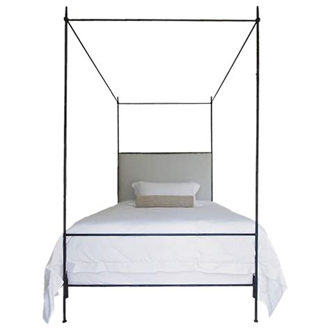 iron canopy beds louis xvi style iron upholstered canopy bed for sale at