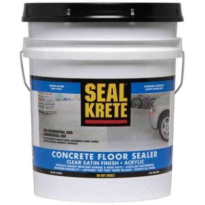 concrete sealer home depot seal krete 5 gal concrete floor sealer discontinued
