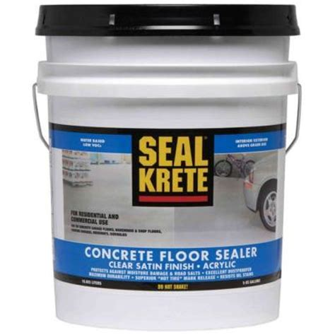Garage Floor Sealer Home Depot by Seal Krete 5 Gal Concrete Floor Sealer Discontinued