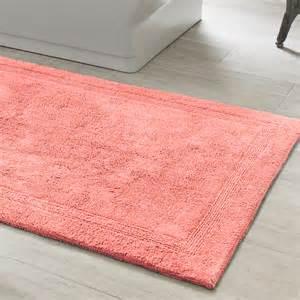 pine cone hill signature coral bath rug