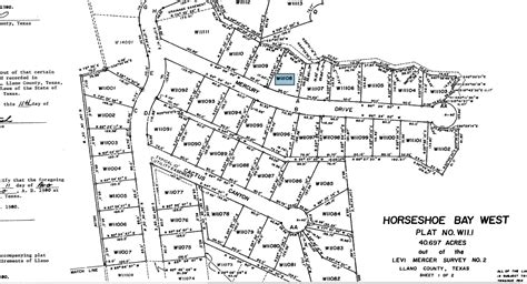 plat maps texas vacant lot for sale in horseshoe bay west community texas paved road all utilities available