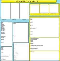 character biography template character bio template by kitkattykomodo on deviantart