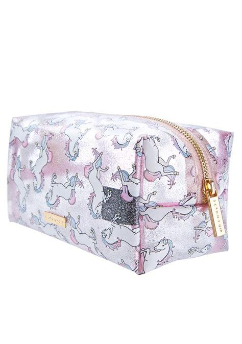 Features Bag Wishlist by Skinnydip Glitter Unicorn Makeup Bag Dolls Kill