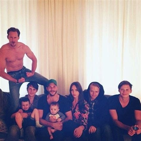 Stelan Kidci skarsgard s family portrait is as amazing as you thought it would be