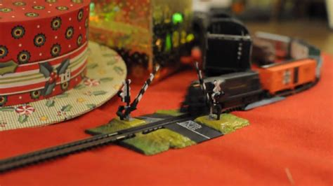 n scale train set around the christmas tree youtube
