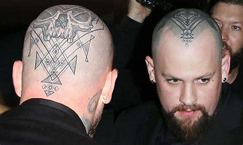 shaved head tattoo benji madden debuts on his as