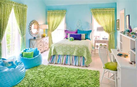 room best paint for room ideas blue color wall with green accentkids bedroom