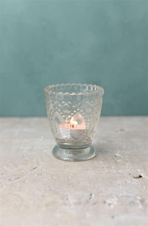 Candlestick Votive Holders 6 Clear Glass Hobnail Heirloom Votive Candle Holders