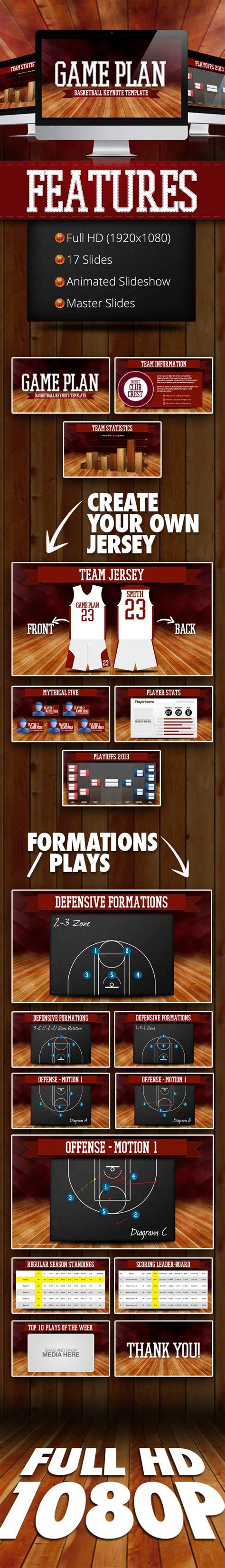 game plan basketball keynote template graphicriver