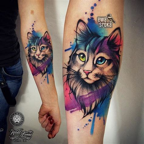 watercolor cat tattoo 25 best ideas about watercolor cat on