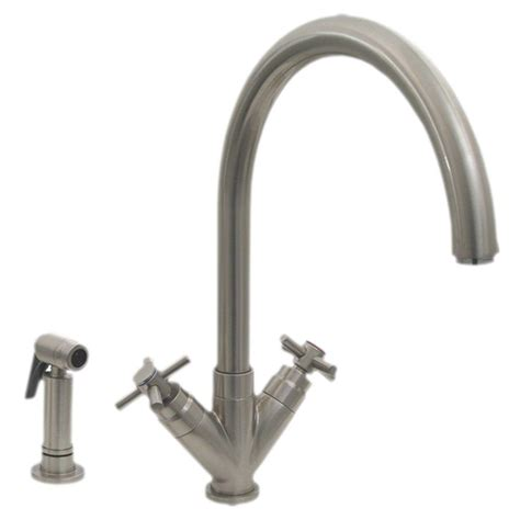 Whitehaus Kitchen Faucets by Whitehaus Collection 2 Handle Side Sprayer Kitchen Faucet