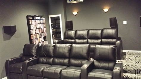 home theatre seating leather reversadermcream