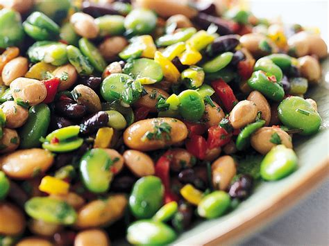 Salad Coffee Bean herbed mixed bean salad with peppers recipe jean