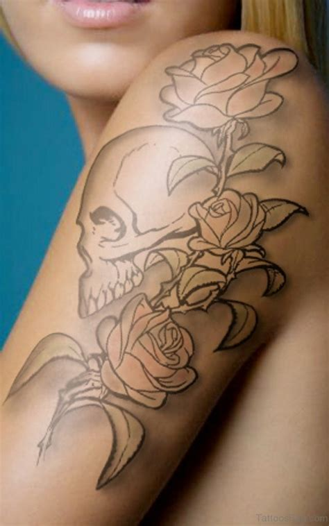 rose tattoos with skulls 57 pleasant black designs