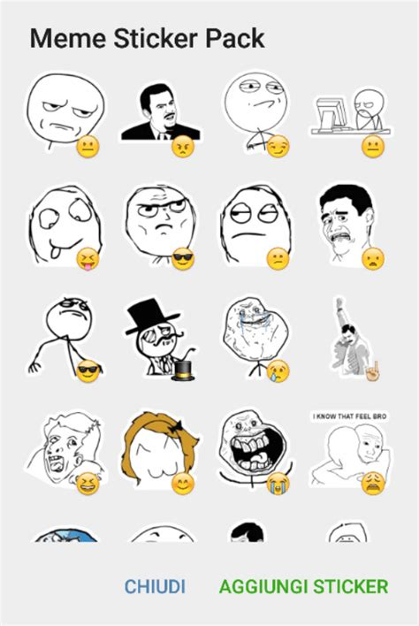 Meme Sticker - rage meme sticker pack telegram stickers hub collection