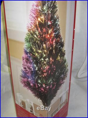 christmas optical fiber trees 32 inches melbourne big w new 32 green fiber optic tree gold base 100 tips changes colors decor