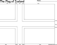 iceland map coloring page flag of iceland enchantedlearning com