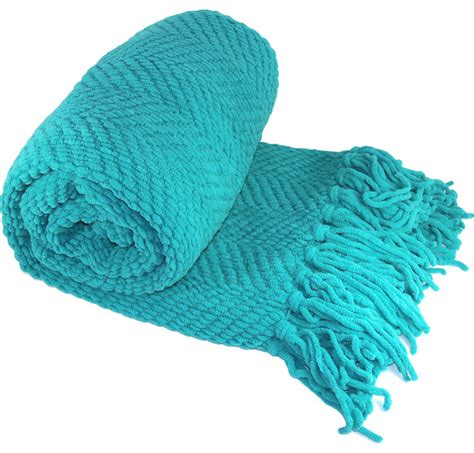blue knitted throw knitted tweed throw blanket contemporary throws by