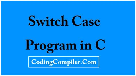 tutorial questions on c programming switch case program in c programming tutorials