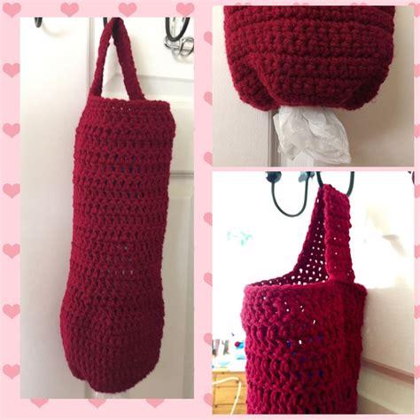 crochet plastic bag keeper pattern crochet plastic bag holder dispenser free pattern in