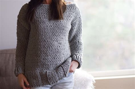 easy knit sweater pattern for beginners beginner chunky knit sweater pattern allfreeknitting com