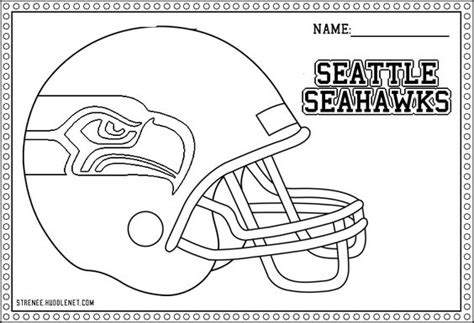 seattle seahawks free coloring pages logos colors and