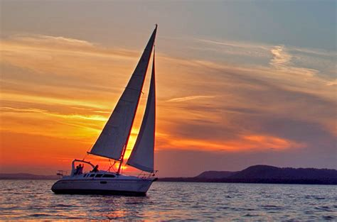 sailing boat cruises sunset sail boat www topsimages