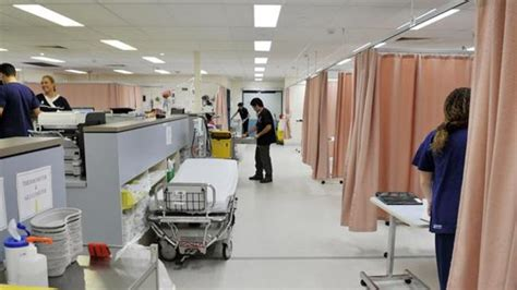 jamaica hospital emergency room number one in two hospital beds filled by elderly study