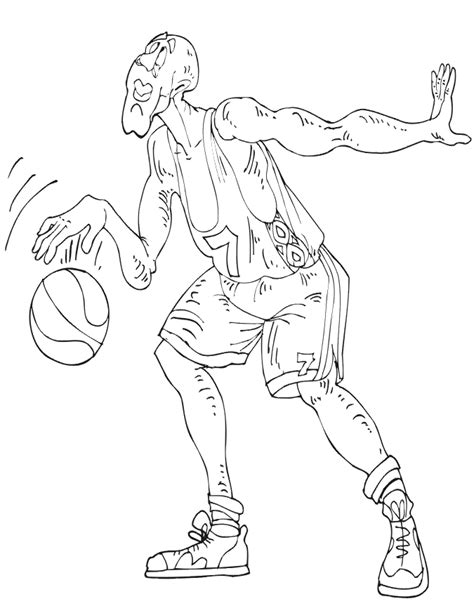 coloring pictures of nba players free nba player coloring pages