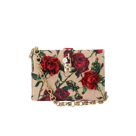 Dg Dolce And Gabbana Floral Canvas Satchel by Lyst Dolce Gabbana Small Print Canvas Bag In Pink